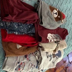 Lot of 9 toddler boy shirts